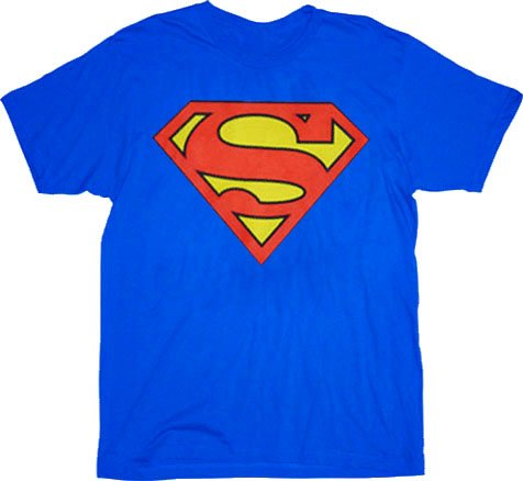 Cheap Superman Original Classic Logo Tshirt Blue