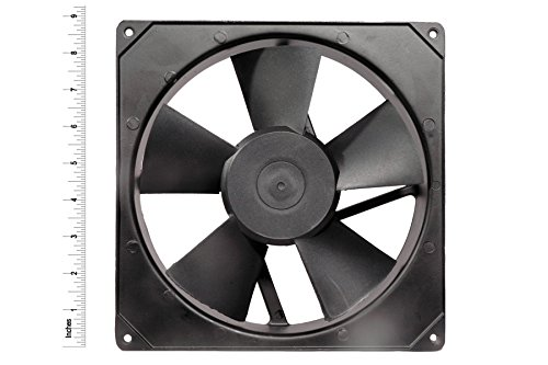 AC Axial Exhaust Blower Cooling Rotary Fan SIZE : 8.70″ inches(22x22x6cm) , Material : Aluminium Die-cast, Color : Black. MAA KU