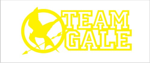 Hunger Games Team Gale Mocking Jay Sticker Decal. Yellow
