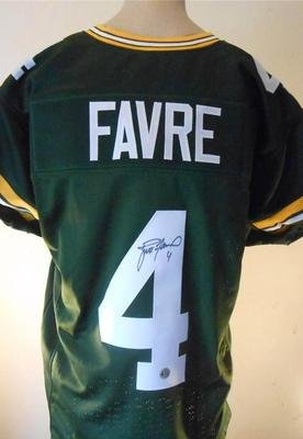 online store 79fc0 58d71 Brett Favre Signed Jersey Favre Official Authentic Hologram ...