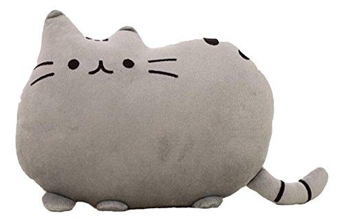 Pusheen Kawaii Cat, Cuscino di peluche, 30 x 40 cm, colore: Grigio