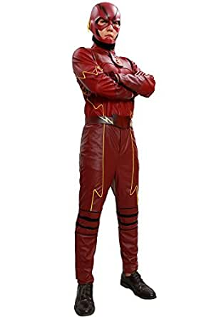 Halloween Men's Thunderbolt Cosplay Costume Jumpsuit PU Leather Outfit