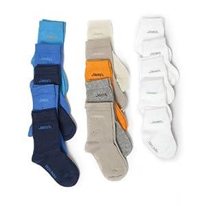 Baby JEEP Socken, einfarbig (5 Paar) (15-18 (6-12 Monate)) (weiß)