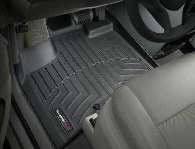Town Country 2008-2012 Chrysler & WeatherTech da pavimento, colore: nero, colore: nero (Set completo di posti) [-Stow 'n Go [] non-passeggeri per Fissaggio laterale del dispositivo di WeatherTech]