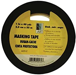 Art Alternatives Acid-Free Black Masking Tape - 3/4\