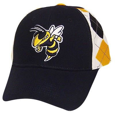 NCAA GEORGIA TECH YELLOW JACKETS BLUE ARGYLE HAT CAP at Amazon.com