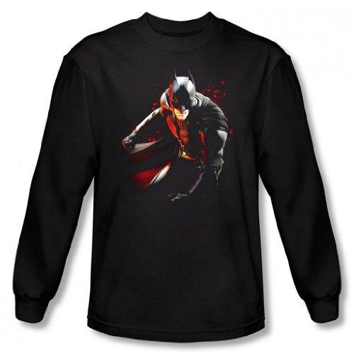 Dark Knight Rises - Batman Ready to Punch Men's Long Sleeve T-Shirt
