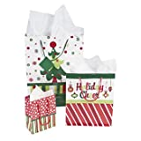 Bright Christmas Gift Bag Assortment - 12 Pc
