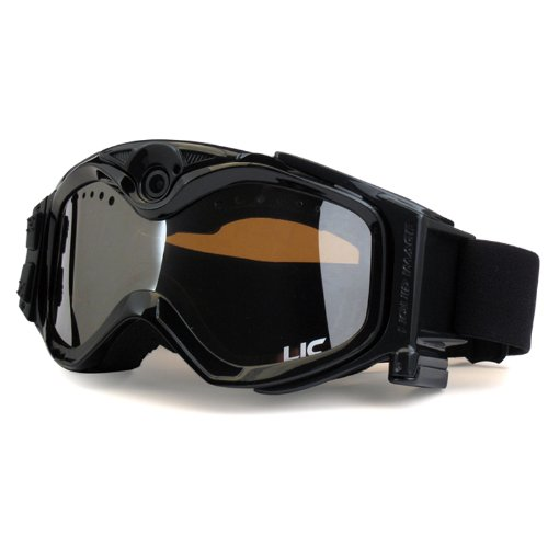 The Liquid Image Xsc Summit Series 335Blk Hd Snow Goggle With Integrated True Pov Hd Video Camera With 1.5X Optical Zoom And 1-Inch Lcd Screen - Black