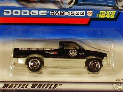 Mattel Hot Wheels 1999 1:64 Scale Black & Gray Dodge Ram 1500 Die Cast Truck Collector #1045 - 1