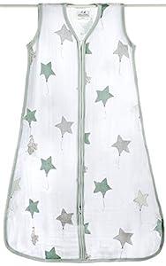 Aden + Anais up, up & away - Saco de dormir de verano para bebés (talla S-XL, muselina de algodón) marca aden + anais