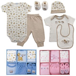 Luvable Friends 6-Piece Layette Gift Set, 0-6 Months, Blue