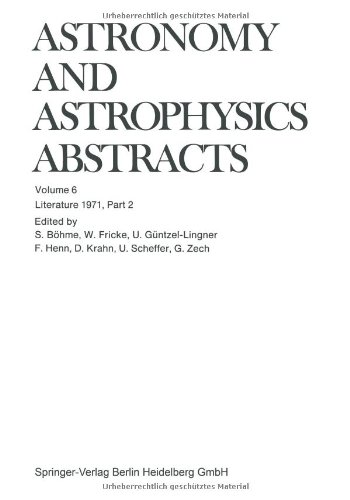 Literature 1971, Part 2 (Astronomy and Astrophysics Abstracts)