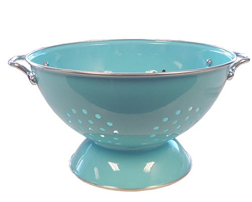 Calypso Basics 5 Quart powder coated Colander, Turquoise
