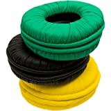 WeSC replacement EarPad/ Ear Cushions for OBOE and Conga Headphones 3 Sets: Green, Black, Yellow