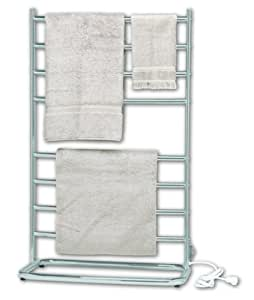 Warmrails WHS Hyde Park 39-Inch Family Size Floor Standing Towel Warmer, Nickel Finish