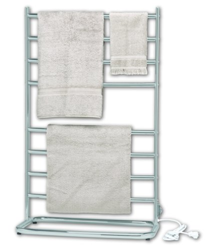 Lowest Prices! Warmrails WHS Hyde Park 39-Inch Family Size Floor Standing Towel Warmer, Nickel Finis...