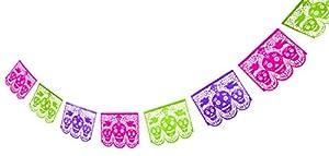 Party Partners Design Dia De Los Muertos Skeleton Laser Cut Paper Banner by Party Partners Design - Kitchen