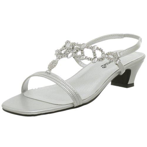 Annie Women's Allison Evening Dress Sandal,Silver,7.5 M