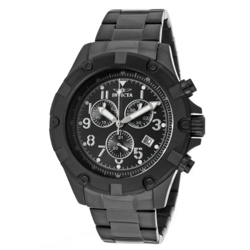 Invicta Men's 13623 Specialty Chronograph Black Dial Black Ion-Plated Stainless Steel Watch