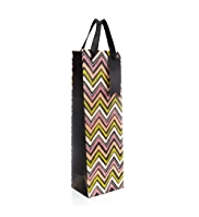 Neon Zig Zag Bottle Bag