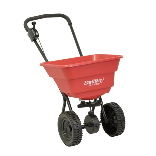 Earthway 2050SU Deluxe 80-Pound Broadcast Spreader with 10-Inch Wheels