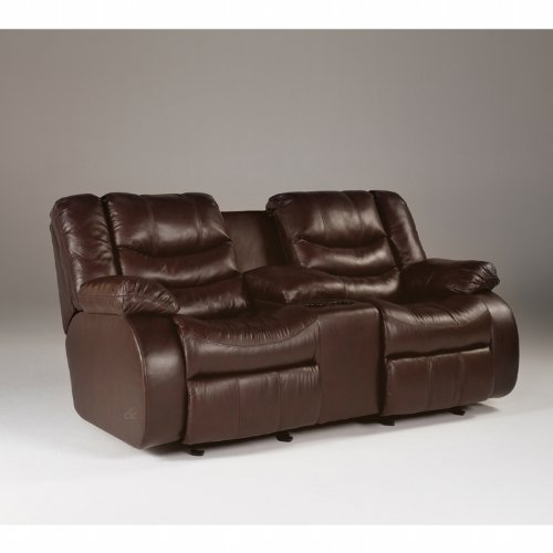 Buy Low Price AtHomeMart Burgundy Reclining Loveseat (ASLY9140194)
