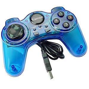 PC USB JOYPAD GAMEPAD GAME CONTROLLER JOYSTICK BLUE [Windows]