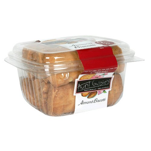 Buy Aunt Gussie's Classic Almond Biscotti, 8.5-Ounce Clamshell Container (Pack of 5) (Aunt Gussie's, Health & Personal Care, Products, Food & Snacks, Snacks Cookies & Candy, Cookies, Biscotti)