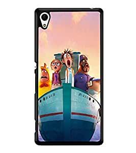 Ship with Cartoon Characters 2D Hard Polycarbonate Designer Back Case Cover for Sony Xperia Z4
