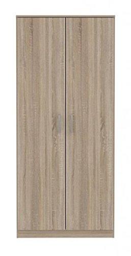 2-trg-Kleiderschrank-Schlafzimmer-Universalschrank-Garderobe-Dielen-Schrank-Sonoma-Eiche