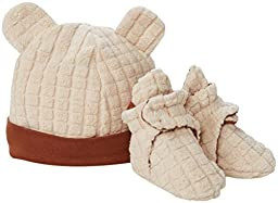 Zutano Unisex Baby Cozie Fleece Hat and Bootie Set (Baby) - Oatmeal - 6 Months
