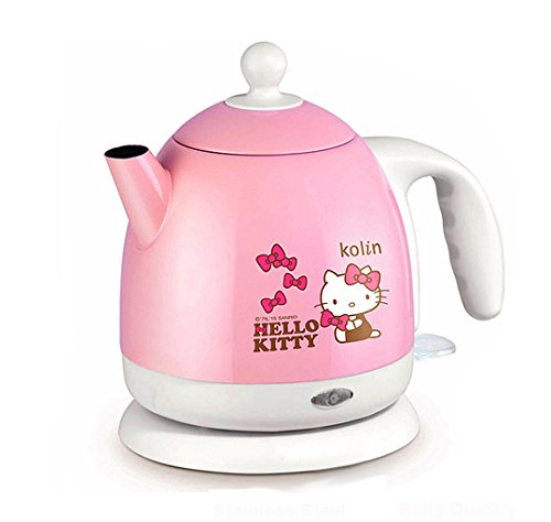 Hello Kitty 1.0L / 33.8oz Electric Kettle Stainless Steel Tea Kettle Base Plug (Kettle Hello Kitty compare prices)