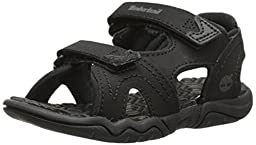 Timberland Adventure Seeker Two-Strap Sandal (Big Kid),Blackout,5 M US Big Kid