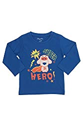 Chirpie Pie by Pantaloons Boy's Round Neck T-Shirt (205000005609868, Blue, 18-24 Months)
