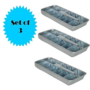 Old Fashioned Metal Ice Cube Trays