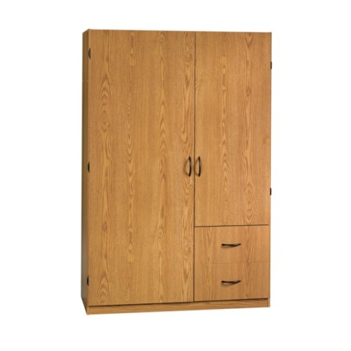 Oak Wardrobe Closet and Storage Organizer