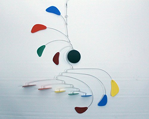 Hanging Mobile / Rainbow Mobile / Kinetic Sculpture / Baby Mobile / Handmade USA (Art Mobiles compare prices)