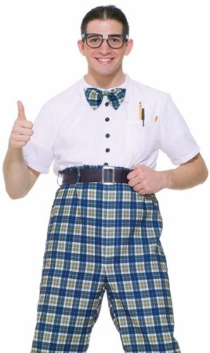 Forum Retro 50s Geek Class Nerd Adult Mens Halloween Costume