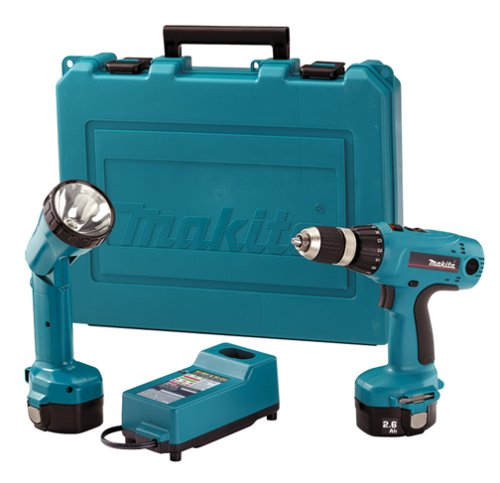 Makita 6337DWDLE 14.4 Volt 1/2-Inch MFORCE Cordless Drill & Flashlight Kit with Exclusive Shift Lock Drive System