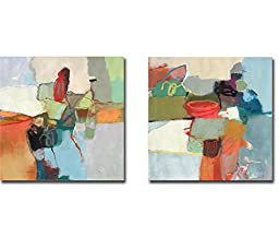 Sector One & Sector Two by David Bailery 2-pc Gallery-Wrapped Canvas Giclee Set (Ready-to-Hang)