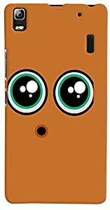 PrintVisa Cartoon Eyes Smiley Case Cover for Lenovo A7000