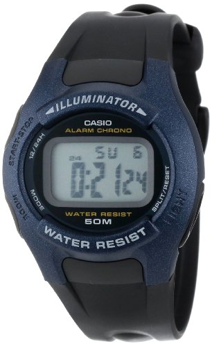 Casio Men's W43H-1AV Black Resin Quartz Watch with Grey Dial