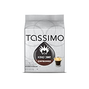 Tassimo King of Joe Espresso, 16-Count 4.45 oz (126g)