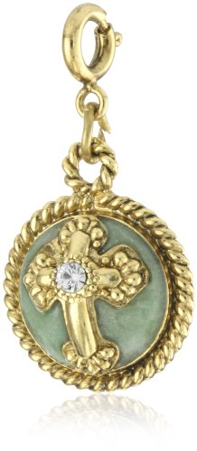 The Vatican Library Collection Hand Enameled Dome Cross Charm
