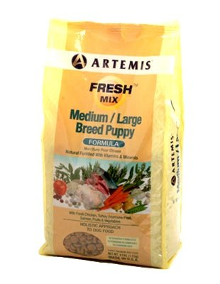 Artemis 133007 Fresh Mix Medium Large Breed Puppy Food, 15-Pound