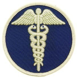 USA Emergency Service Iron on Patch - Medical Technician - EMT Cadueus of Hermes (Service Technician compare prices)