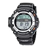 Mens Casio Multi-task Gear Digital Black Resin Strap Twin Senso