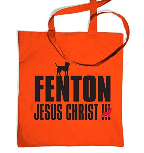fenton-dog-chasing-deer-tote-bag-orange-one-size-tote-bag