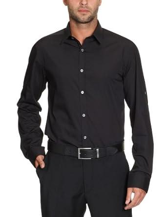 SELECTED HOMME Herren Businesshemd 16020809, Gr. 48 (S), Schwarz (Black)